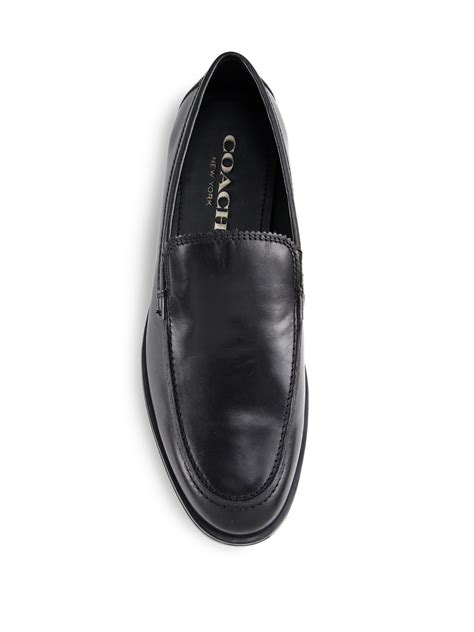 coach loafers for coach claremont leather venetian loafers in black for