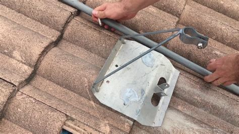 tile roof tripod mount how to install a tile roof tripod tv antenna mount