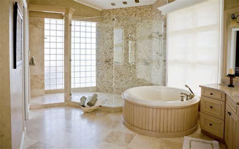 durango cream travertine tile bathroom traditional