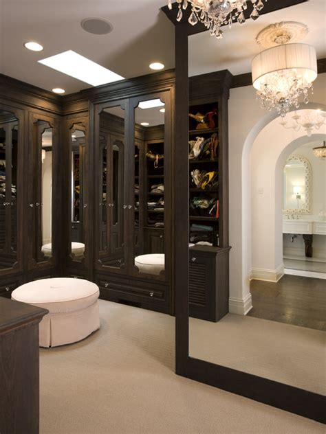floor to ceiling mirror traditional closet