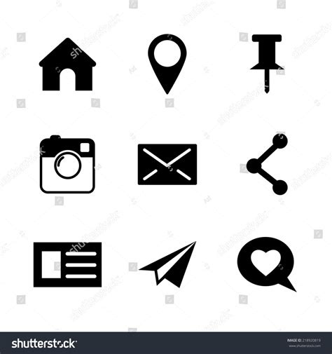 How To Search Instagram By Email Set Of Vector Social Network Icons Isolated On White