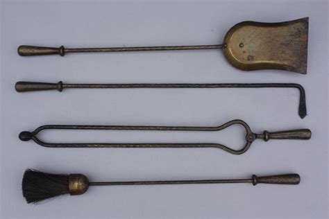 cast iron fireplace tool set 1920s cast iron hammered tool set at 1stdibs