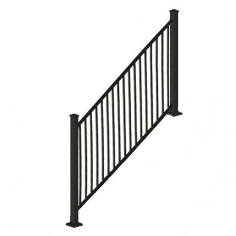 Home Depot Banisters by Rdi 8 Ft X 34 In Black Square Baluster Stair Rail Panel