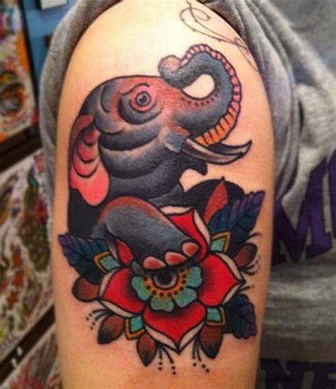 tattoo old school elephant 15 top old school tattoo designs 187 tattoosideen com