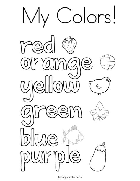 things that are red coloring page coloring pages yellow