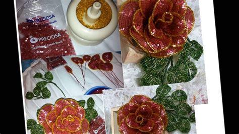 perline fiori fiori di perline la rosa beaded roses
