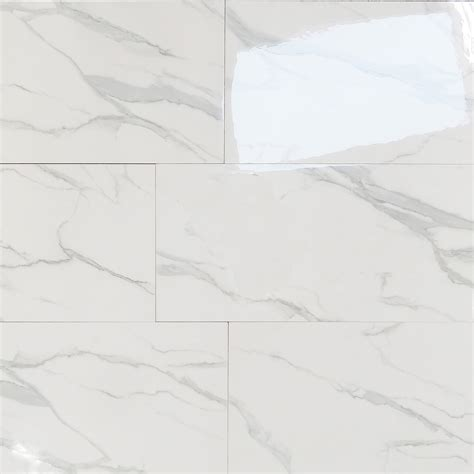 Floor Tiles Design by Euromarmo Statuario Venato 12x24 Polished