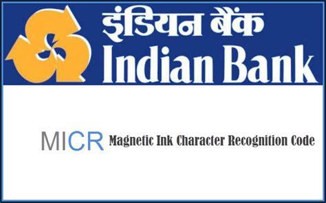 sc bank india indian bank micr code