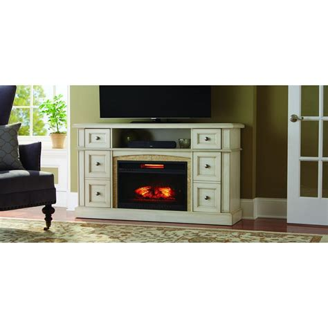 white electric fireplace media center home decorators collection bellevue park 59 in media