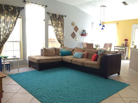 Livingroom Rug Teal Color Area Rug And Accent Colors Yellow Teal Red