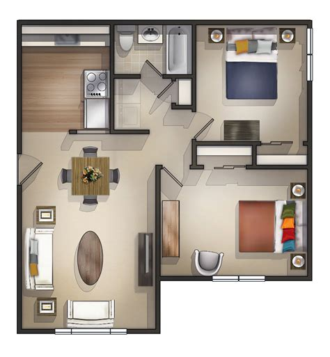 design apartment 2 rooms two bedroom apartments aneilve