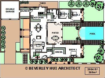Horseshoe Shaped House Plans by U Shaped House Plans With Pool In The Middle Courtyard