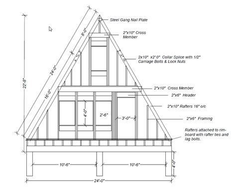 A Frame Blueprints Our A Frame Cabin A Frame Elevations And Sketches