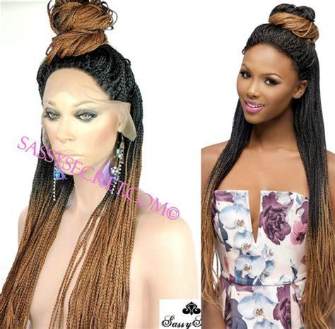 boxbraid wig box braided lace wig micro braid lace wig sassy secret