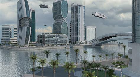 City Map 3d Model futuristic city 3d model turbosquid 1154302