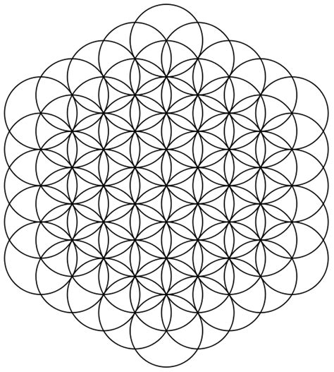 geometric pattern wiki file flower of life 61circles svg wikimedia commons