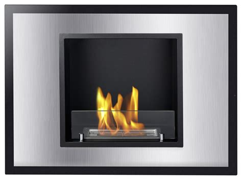 vienna recessed ventless ethanol fireplace modern