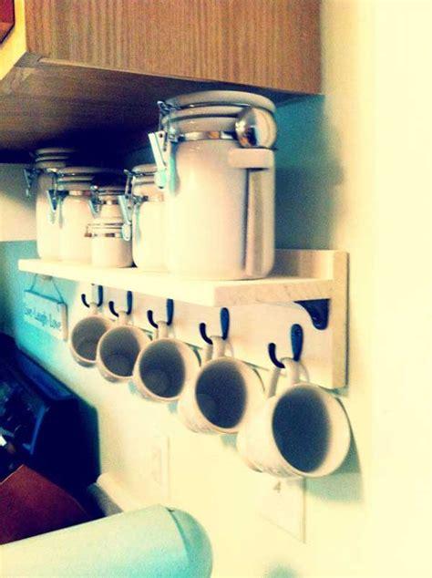 fun  practical diy coffee mugs storage ideas
