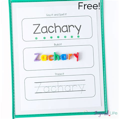 free printable name tracing templates editable name spelling and tracing printables