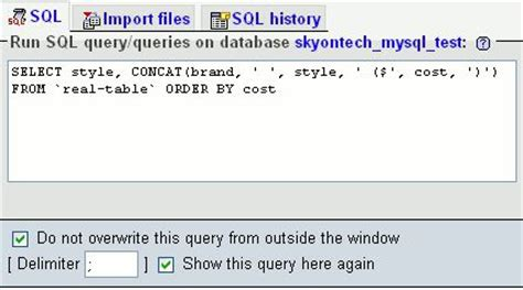 sql select creating a mysql view directly in phpmyadmin sky on tech