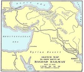 berlin on the world map berlin baghdad railway the great war