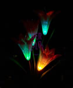 solar color changing garden lights flower solar led garden stake light color changing