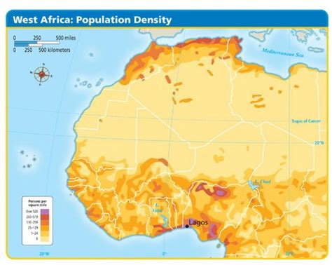 africa map 2000 world cultures maps
