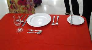 table setting food and beverages
