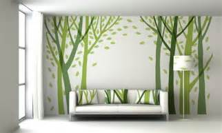 Palm tree wall painting architectural design