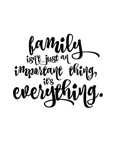 printable quotes about family family first monthly free printable kick off a dash