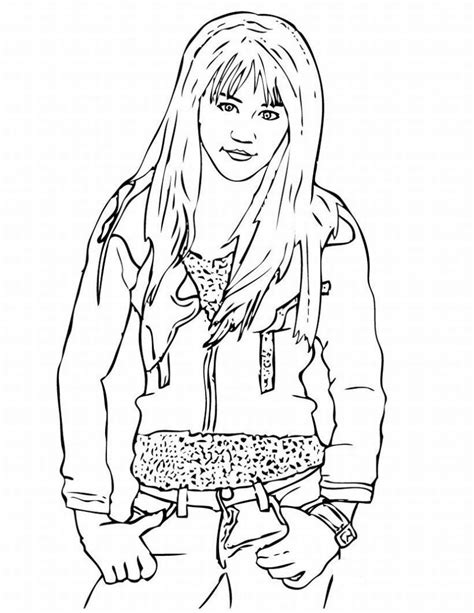 Free Printable Hannah Montana Coloring Pages For Kids Montana Coloring Pages