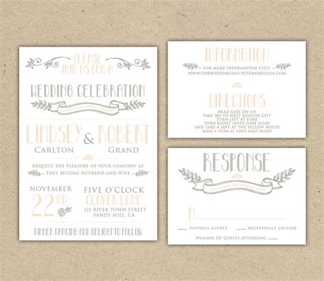 Rsvp Wedding Invite Template by Printable Wedding Invitation And Rsvp Template Rustic Diy