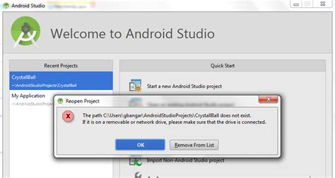 uninstall android studio import remove project from android studio stack overflow