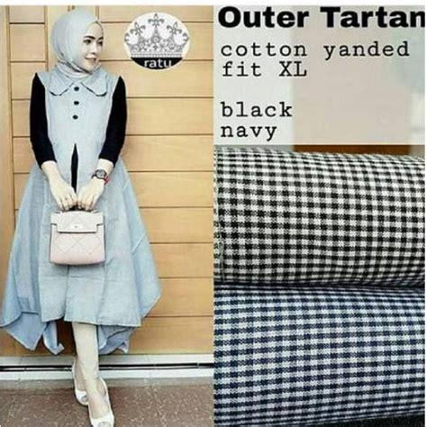 Q4 Baju Atasan Muslim Wanita Outer L Kode E6532 1 jual baju muslim tartan outer grosir baju muslim pakaian