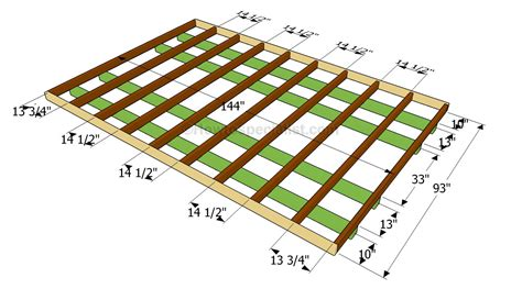 how to build a floor how to frame a floor images