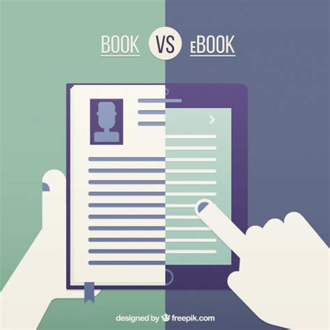 ebook picture books book vs ebook vector free