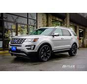 2013 Ford Explorer With Custom Rims  2017 2018 Best