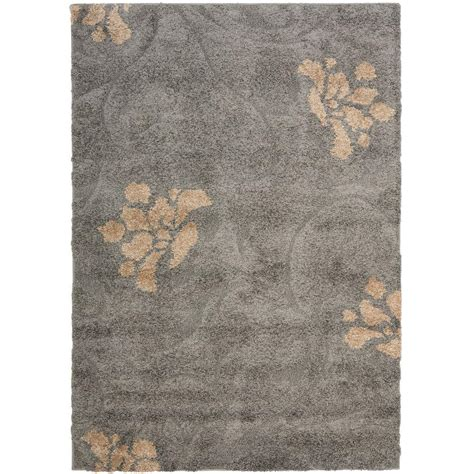 Gray And Beige Area Rug Safavieh Florida Shag Gray Beige 8 Ft 6 In X 12 Ft Area Rug Sg462 8013 9 The Home Depot