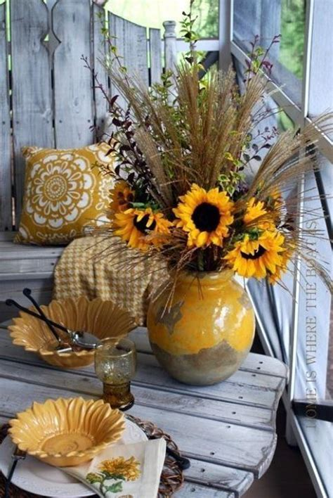 rustic sunflowers home decor flowers country design