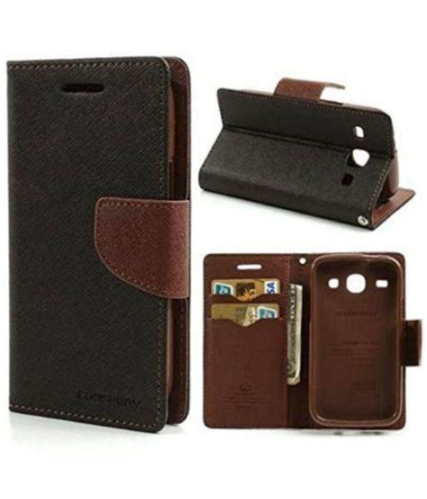Flip Cover Lenovo A516 Murah lenovo a516 flip cover by goldenize brown flip covers at low prices snapdeal india