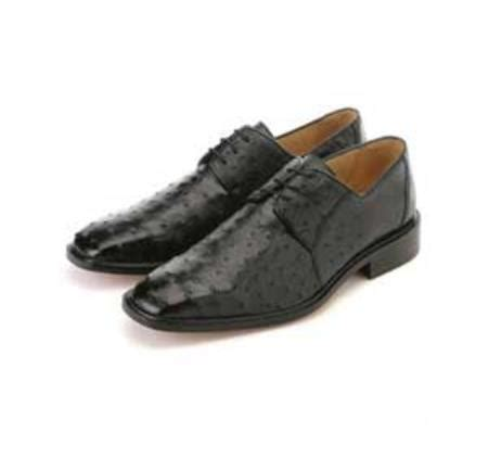 belvedere genuine ostrich mens dress shoes with leather