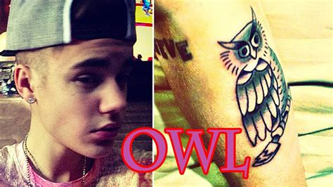 justin bieber owl tattoo instagram justin bieber gets a new owl tattoo youtube
