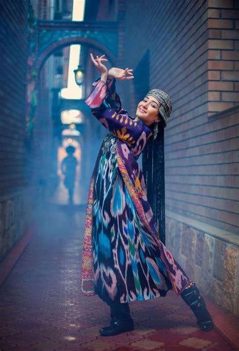 Uzbek Traditional Costume In Girl | uzbek girl in traditional costume folk costume
