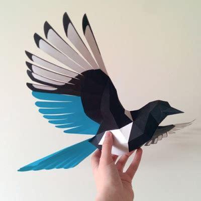 3d bird template flying bird paper model