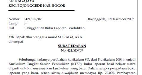 soal bahasa indonesia berikan contoh surat edaran dan