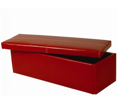 large red ottoman toni large red faux leather ottoman just ottomans