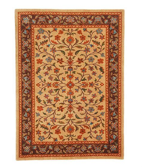 Orange Brown Area Rug by Riva Carpets Orange Brown Traditional Ifshan Area Rug