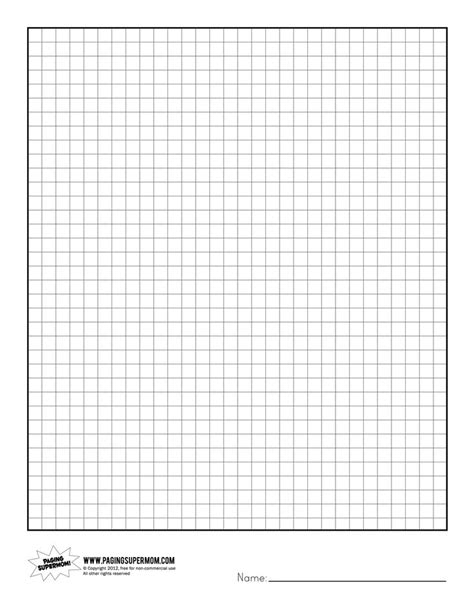 printable graph paper with 6 graphs 6 best images of printable graph paper for teachers free