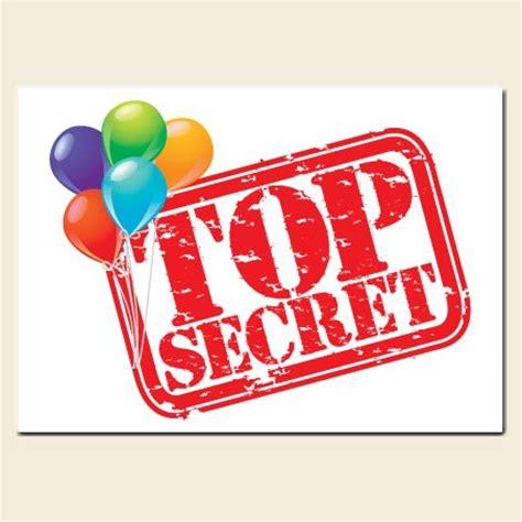 secret surprises birthday invitations top secret