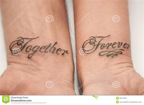 together forever tattoo together forever stock photo image of forever